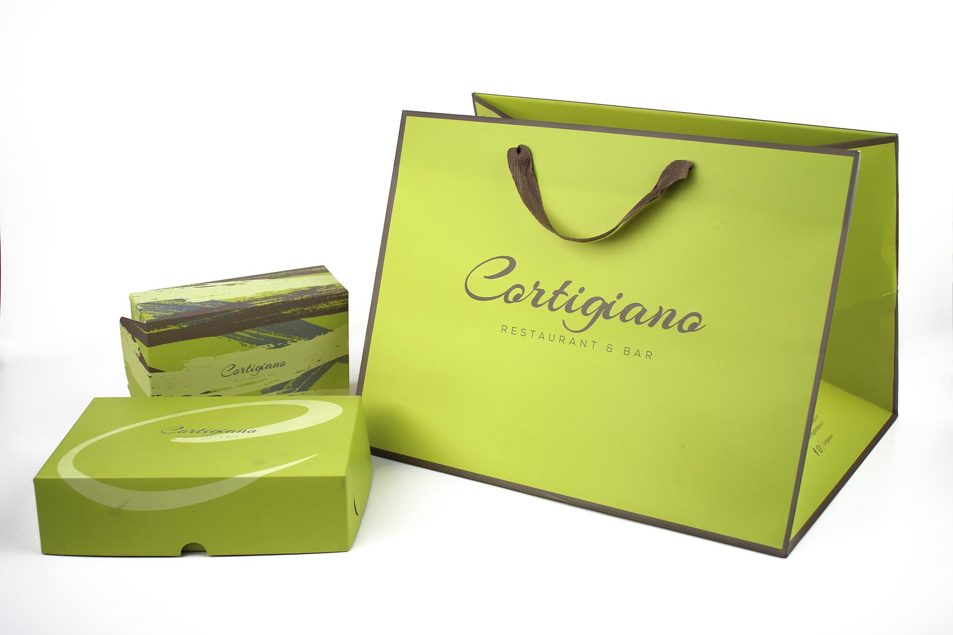 1 | Cortigiano | Shopping bag | Scatole take away